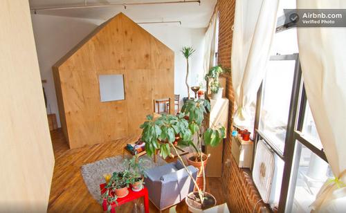 Cabin in a loft